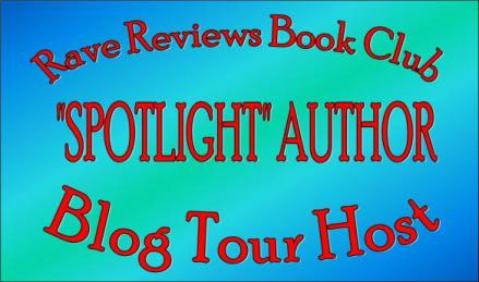 Colorful banner for Rave Reviews Book Club Spotlight Author Blog Tour Host